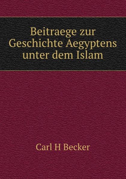 Carl H. Becker Beitraege zur Geschichte Aegyptens unter dem Islam arthur stein untersuchungen zur geschichte und verwaltung aegyptens unter roemischer herrschaft classic reprint