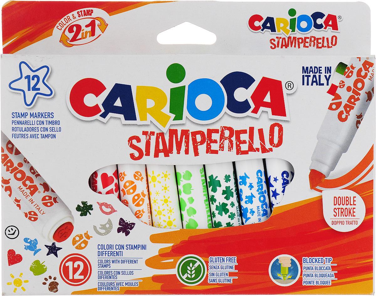 Набор для рисования Carioca (Кариока) Stamp Markers, 12 цветов набор для рисования carioca back to school 43261 97 предметов