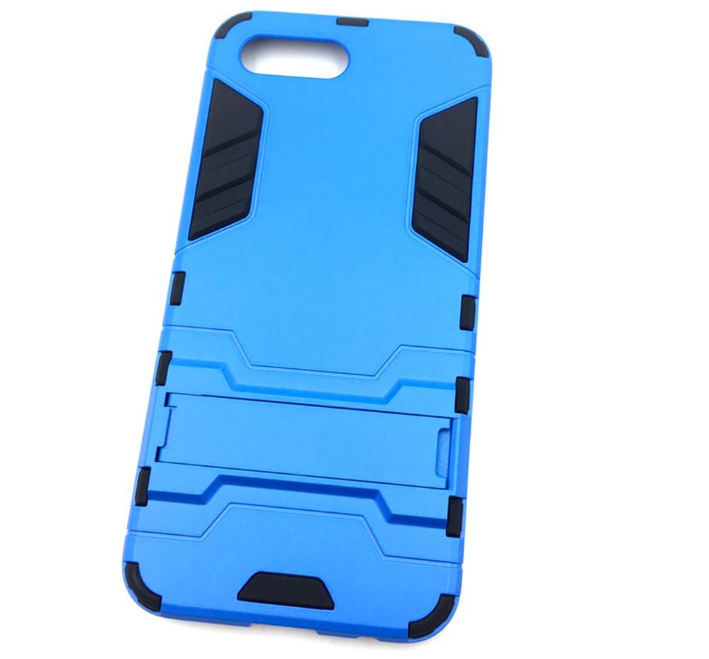 Чехол для сотового телефона Мобильная мода Honor 10 Накладка противоударная с подставкой трансформер, синий стоимость