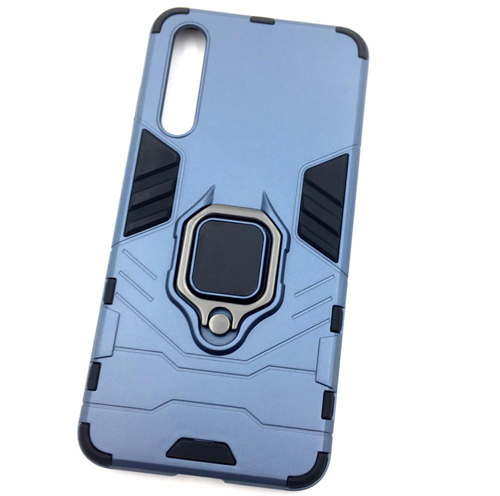 Чехол для сотового телефона Мобильная мода Huawei P20 Pro Накладка противоударная с подставкой-кольцом трансформер, темно-синий стоимость