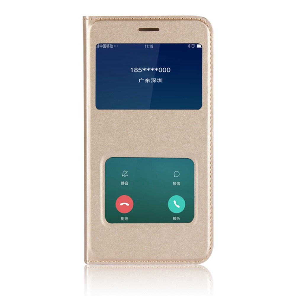 Чехол для сотового телефона Мобильная мода Xiaomi Redmi 5A Чехол-книжка пластиковая с интерактивными окнами, золотой