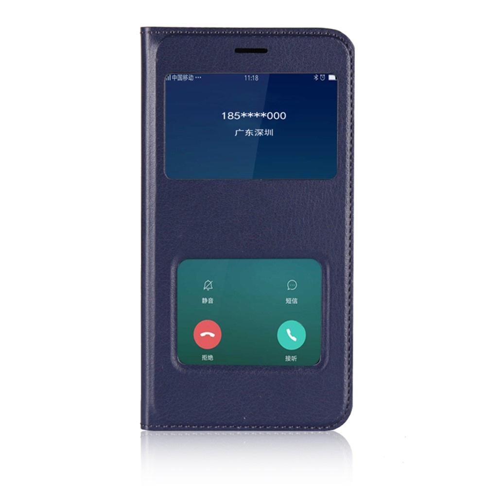 Чехол для сотового телефона Мобильная мода Xiaomi Redmi 5A Чехол-книжка пластиковая с интерактивными окнами, темно-синий
