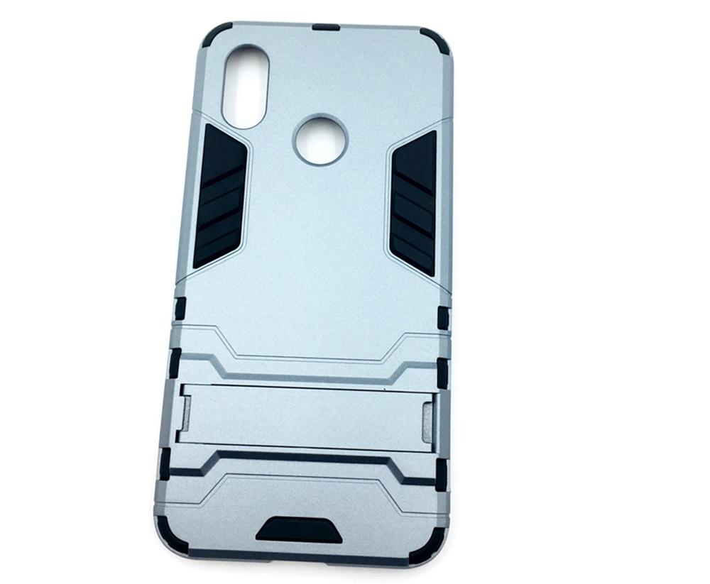 Чехол для сотового телефона Мобильная мода Xiaomi Mi 8 Накладка противоударная с подставкой трансформер, серый стоимость