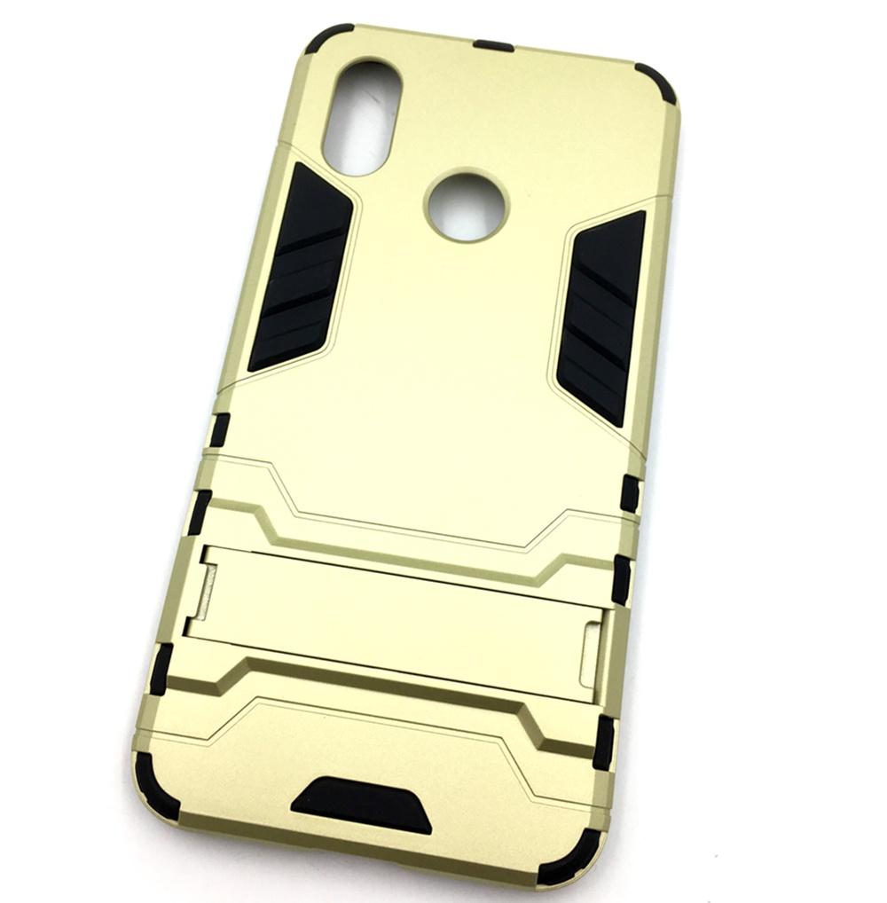Чехол для сотового телефона Мобильная мода Xiaomi Mi 8 Накладка противоударная с подставкой трансформер, золотой стоимость