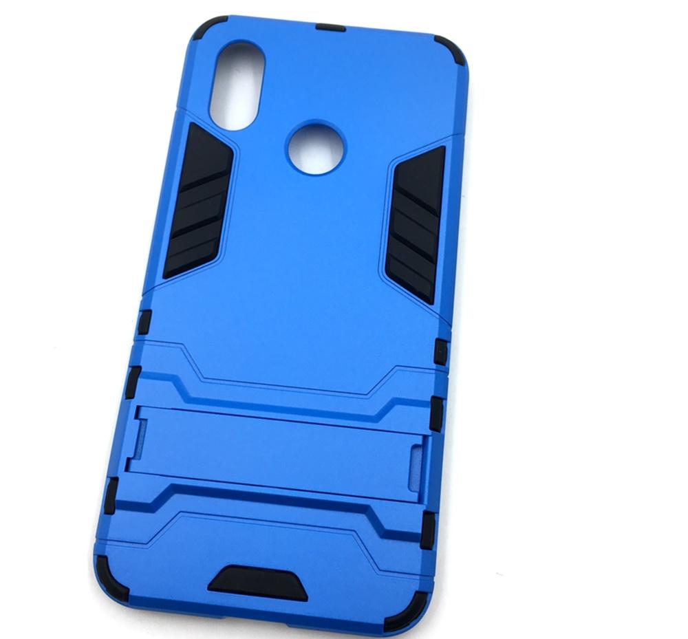 Чехол для сотового телефона Мобильная мода Xiaomi Mi 8 Накладка противоударная с подставкой трансформер, синий стоимость