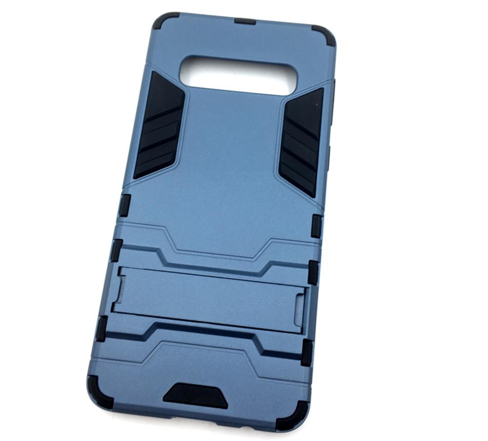 Чехол для сотового телефона Мобильная мода Samsung S10 Накладка противоударная с подставкой трансформер, темно-синий