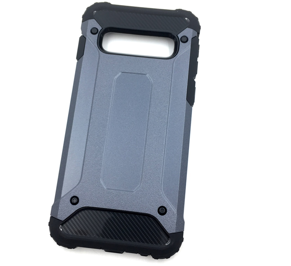лучшая цена Чехол для сотового телефона Мобильная мода Samsung S10 Накладка противоударная с усиленными углами, темно-серый