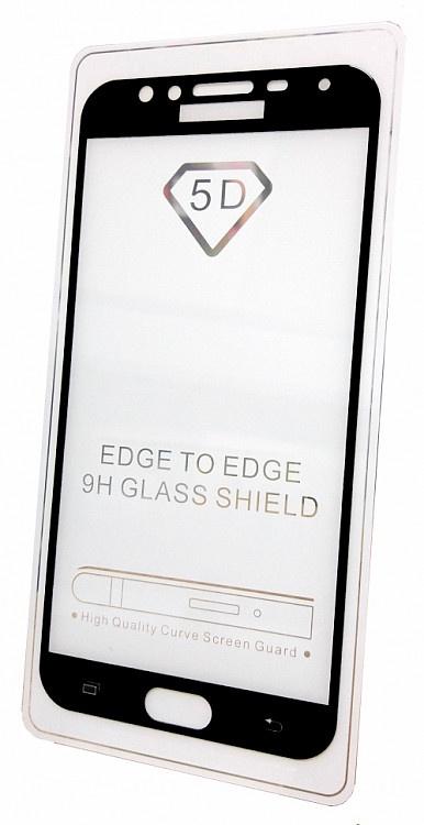 Защитное стекло для Samsung Galaxy J4 (2018 г. полная проклейка черная рамка), черный защитное стекло skinbox для samsung galaxy j4 4660041405392 черный