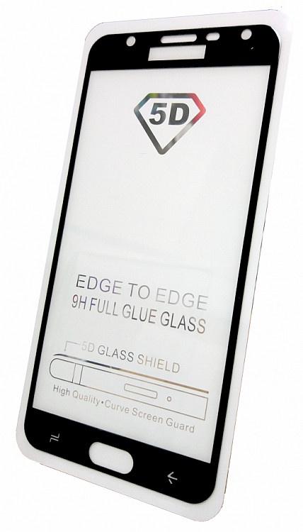 Защитное стекло для Samsung Galaxy J7 DUO (2018 г. полная проклейка черная рамка), черный все цены