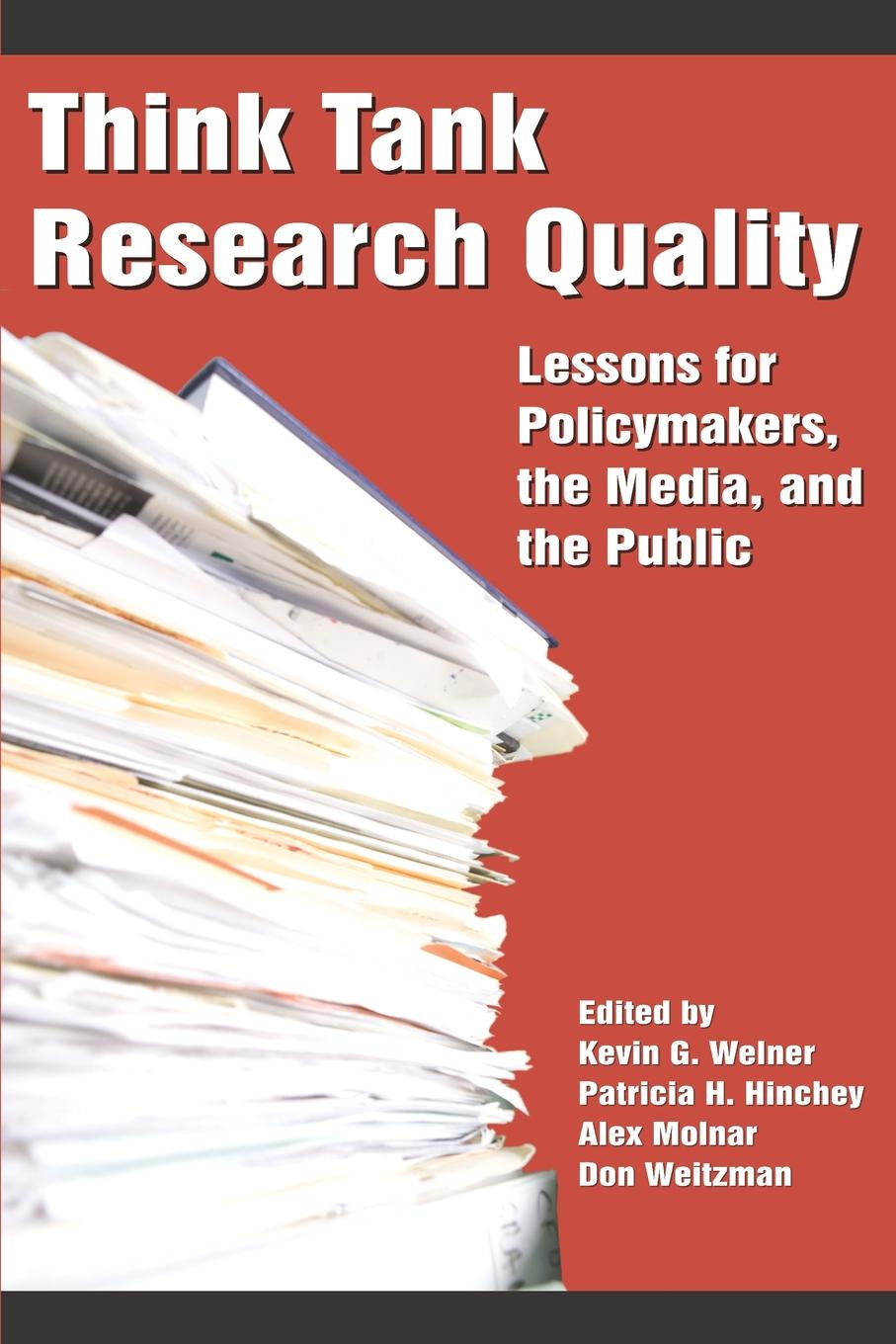 лучшая цена Think Tank Research Quality. Lessons for Policy Makers, the Media, and the Public (PB)