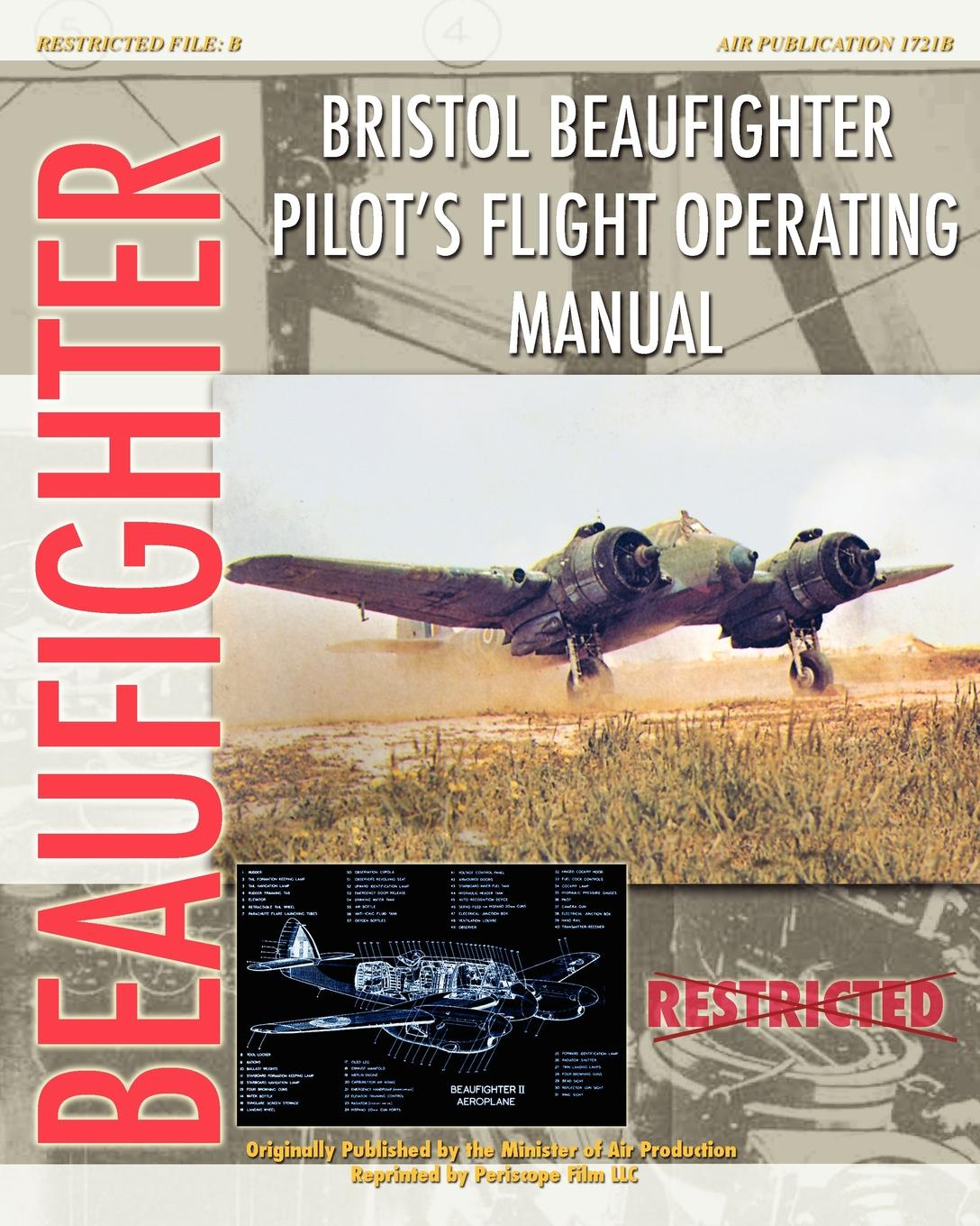 Minister of Aircraft Production Bristol Beaufighter Pilot.s Flight Operating Instructions