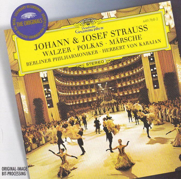 Herbert von Karajan. Strauss, J.II & Josef: Walzer; Polkas; Marsches herbert von karajan j strauss