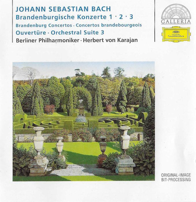 Herbert Von Karajan. Bach: Brandenburg Concertos Nos.1-3; Overture цена в Москве и Питере