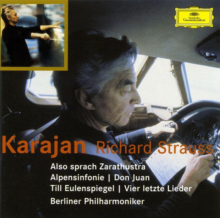 Herbert von Karajan. Strauss: Also sprach Zarathustra; Alpensinfonie; D (2 CD) herbert von karajan j strauss