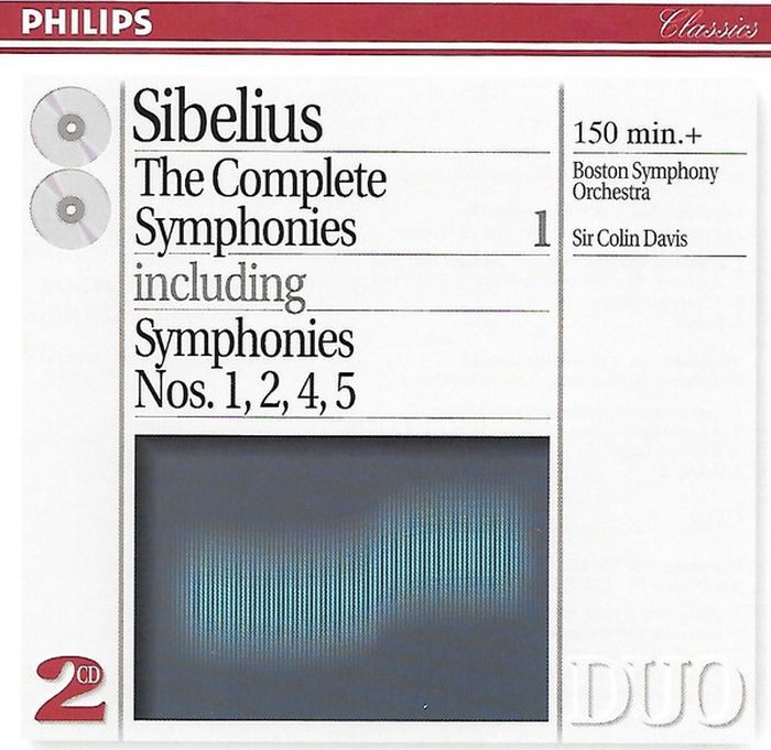 Sibelius. Boston Symphony Orchestra. Sir Colin Davis. The Complete Symphonies 1 (2 CD) колин дэвис boston symphony orchestra сальваторе аккардо sir colin davis boston symphony orchestra sibelius complete symphonies tone poems 5 cd
