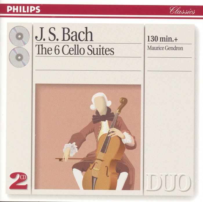 Maurice Gendron, Bach. The 6 Cello Suites (2 CD) andras schiff bach french suites nos 1 6 italian concert 2 cd