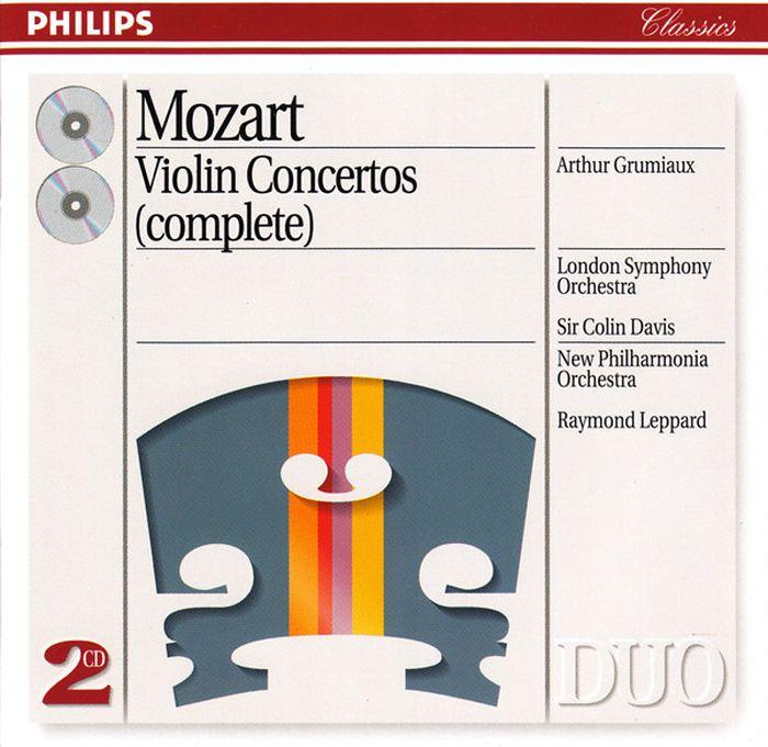 лучшая цена Arthur Grumiaux. Mozart. Violin Concertos Nos. 1-5 etc (2 CD)