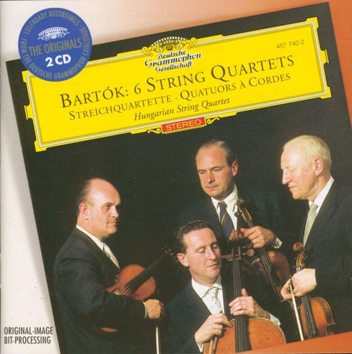Hungarian String Quartet. Bartok: 6 String Quartets (2 CD) zapolski quartet scandinavian classics zapolski quartet dmitri schostakowitch string quartets no 2
