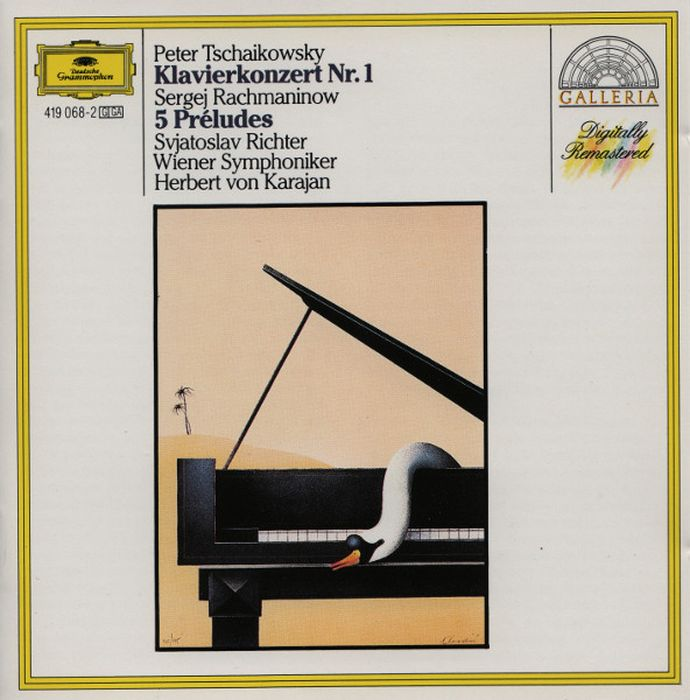 Herbert von Karajan. Tchaikovsky: Piano Concerto No.1 / Rachmaninov: 5 Preludes стоимость
