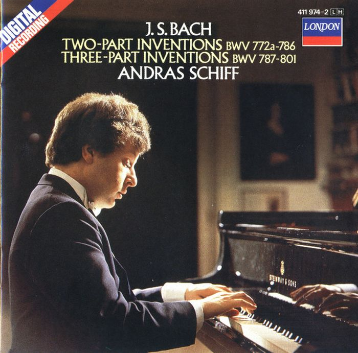 Andras Schiff. Bach: Two And Three Part Inventions andras schiff bach french suites nos 1 6 italian concert 2 cd