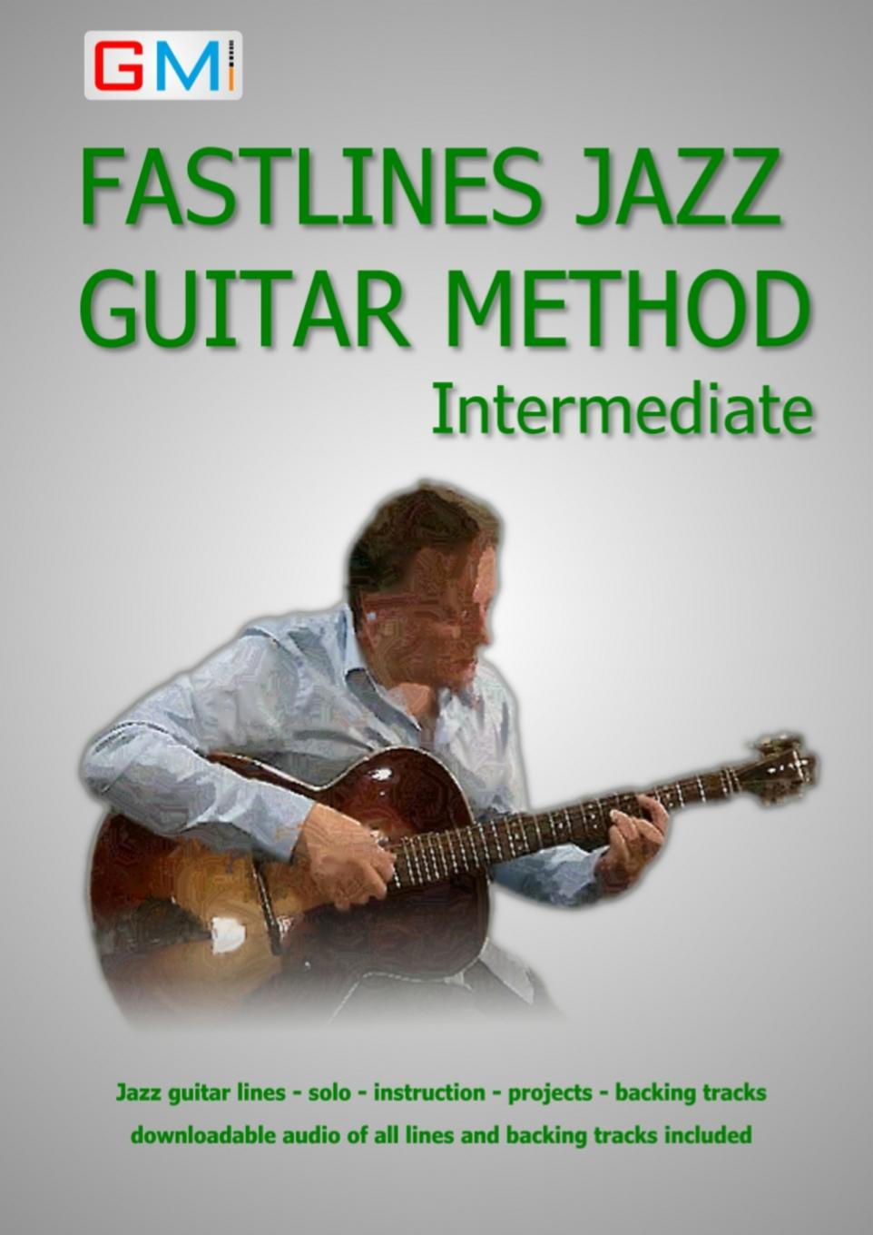Brockie Ged Fastlines Jazz Guitar Method Intermediate. Learn to solo for jazz guitar with Fastlines, the combined book and audio tutor pedal tuner chromatic guitar parts and accessories musical instrument free shipping include battery