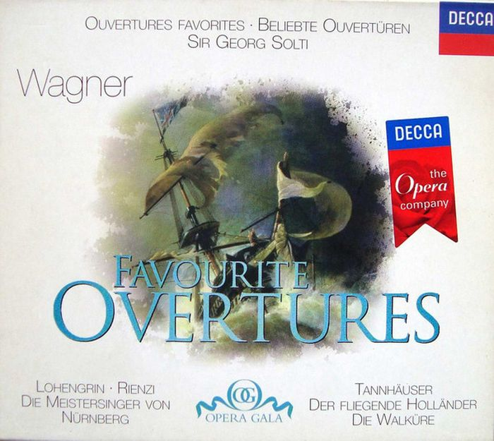 Sir Georg Solti. Wagner: Favourite Overtures граммофонная пластинка decca 4786442