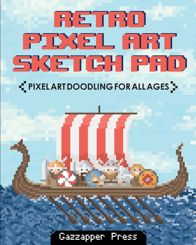 Gazzapper Press Retro Pixel Art Sketch Pad. Pixel Art Doodling for All Ages game pad wall sticker