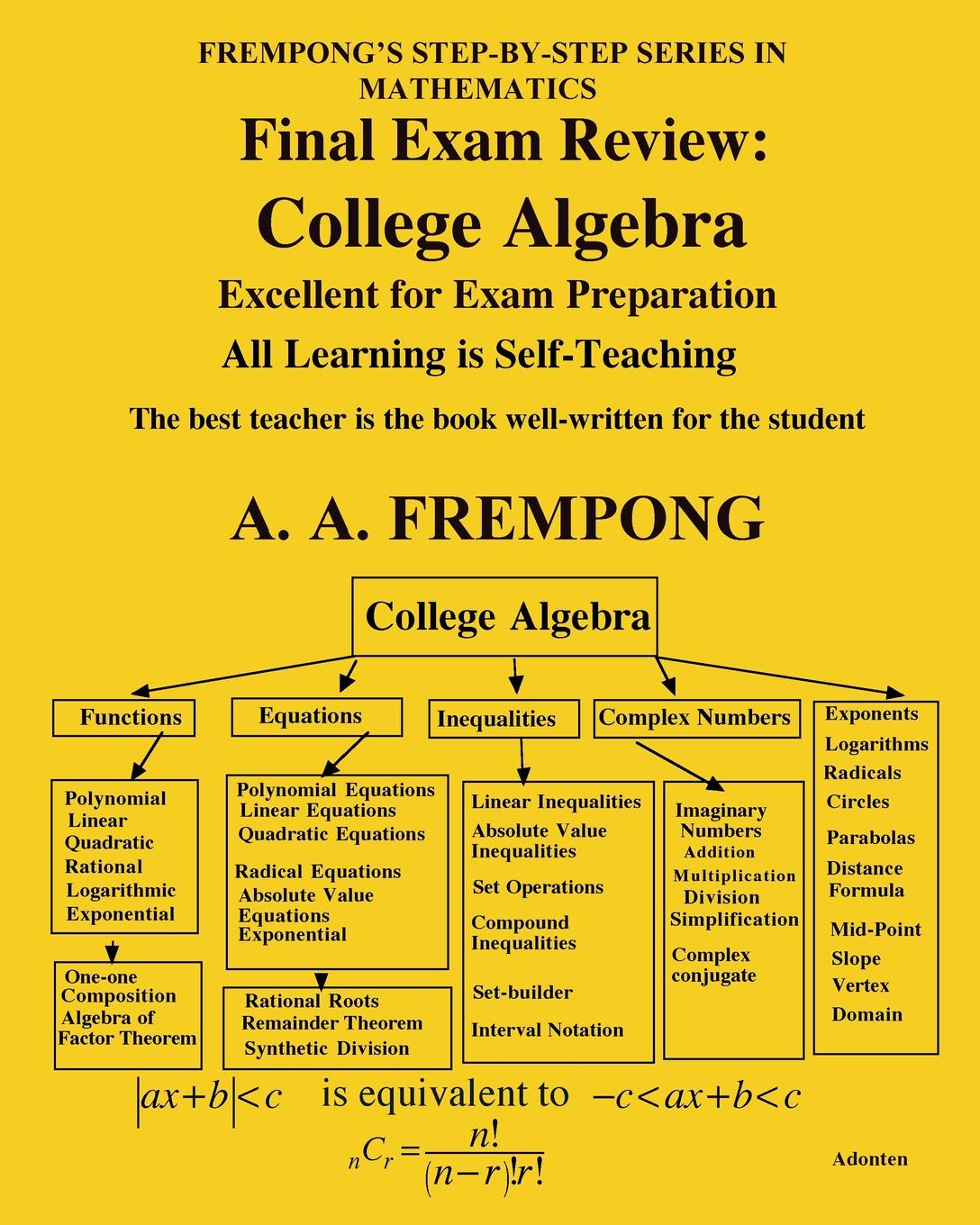 A. A. Frempong Final Exam Review. College Algebra andrei bourchtein counterexamples on uniform convergence sequences series functions and integrals