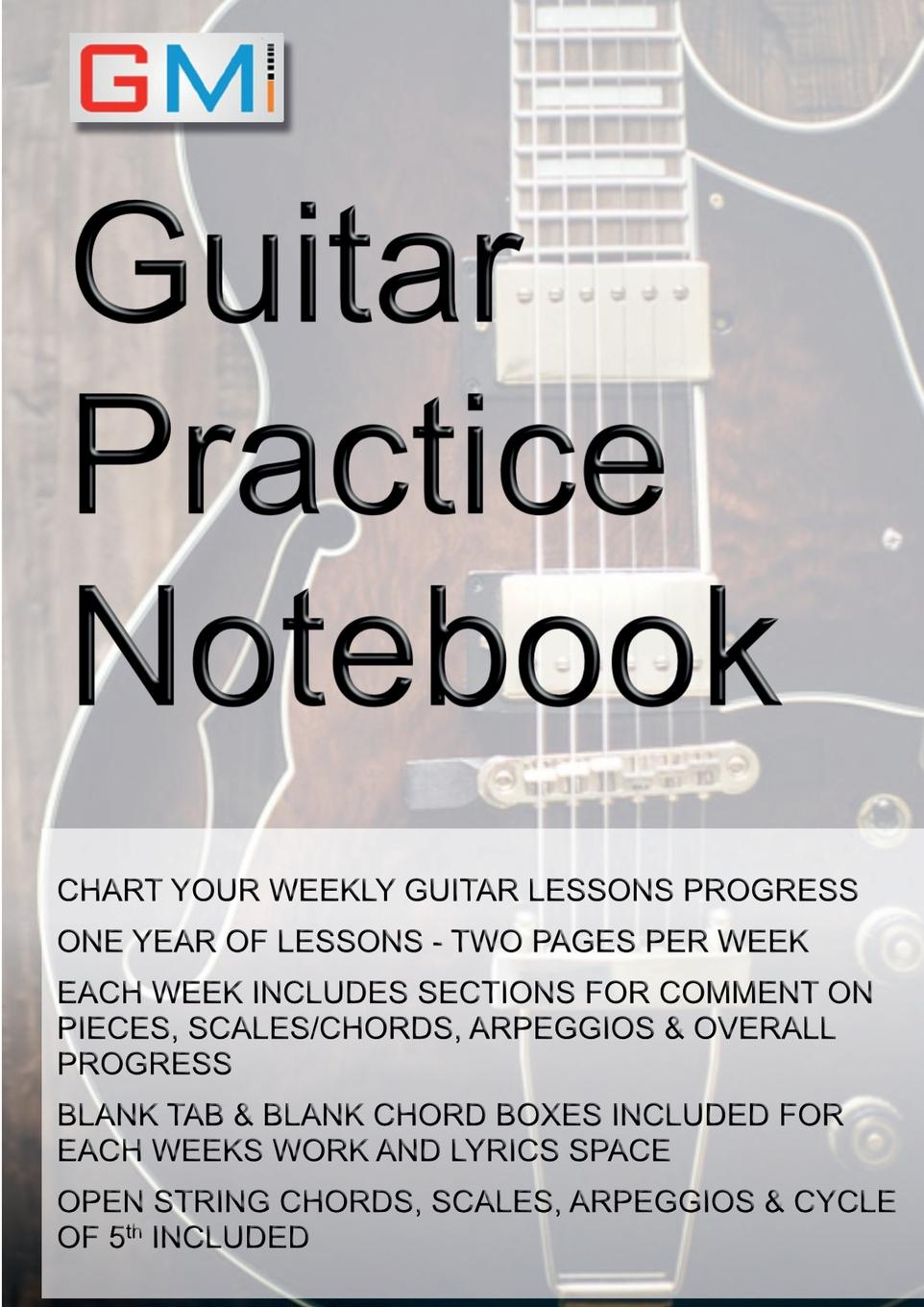 Ged Brockie Guitar Practice Notebook. Instrumental diary for guitarists free shipping new arrival high quality custom shop black flying v emg pickups electric guitar