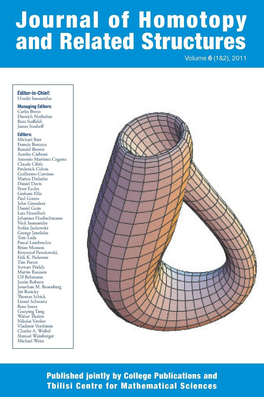 Journal of Homotopy and Related Structures 6(1.2) цены