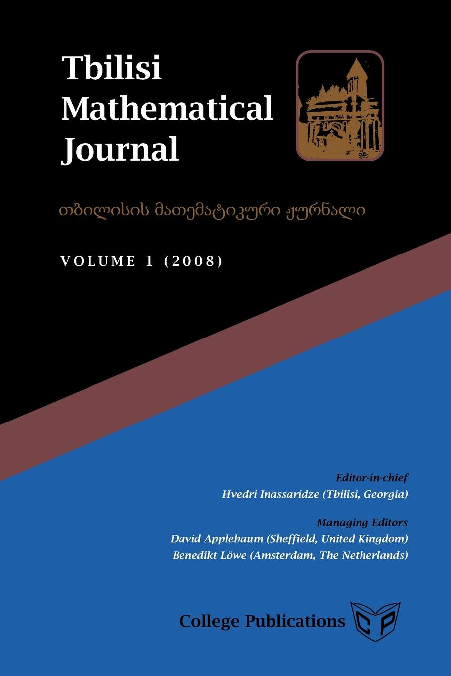 Tbilisi Mathematical Journal. Volume 1 (2008) reports of the survey botanical series volume 9