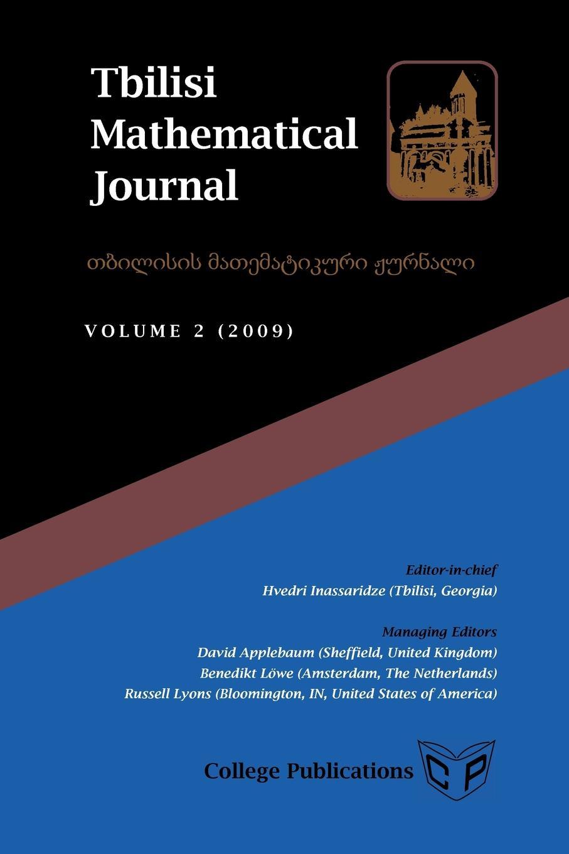 Tbilisi Mathematical Journal Volume 2 (2009) tbilisi