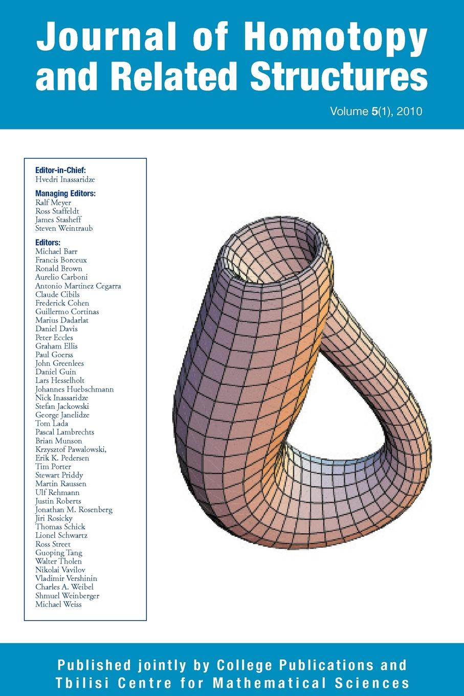 Journal of Homotopy and Related Structures 5(1) цены