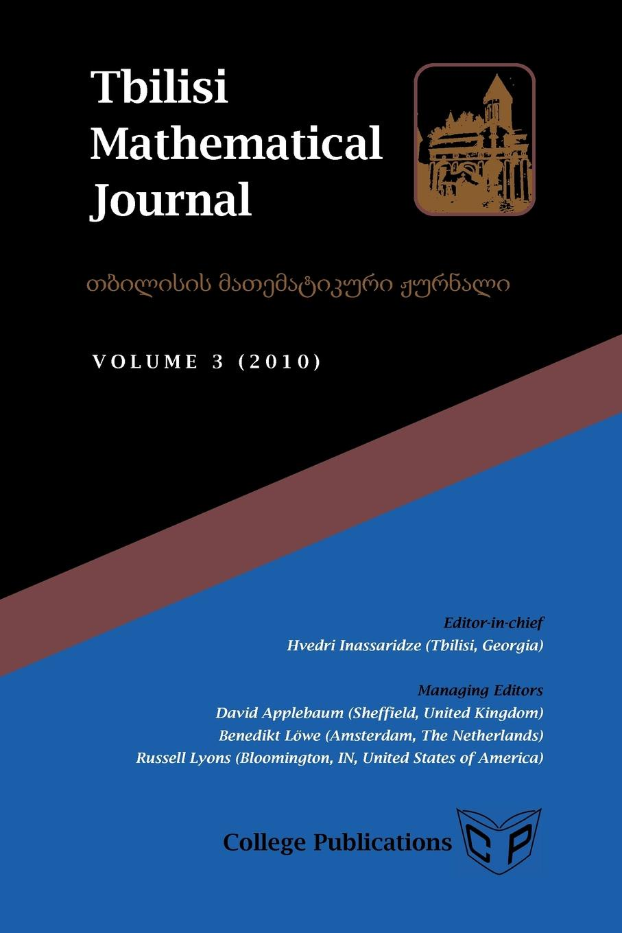 Tbilisi Mathematical Journal Volume 3 (2010) reports of the survey botanical series volume 9