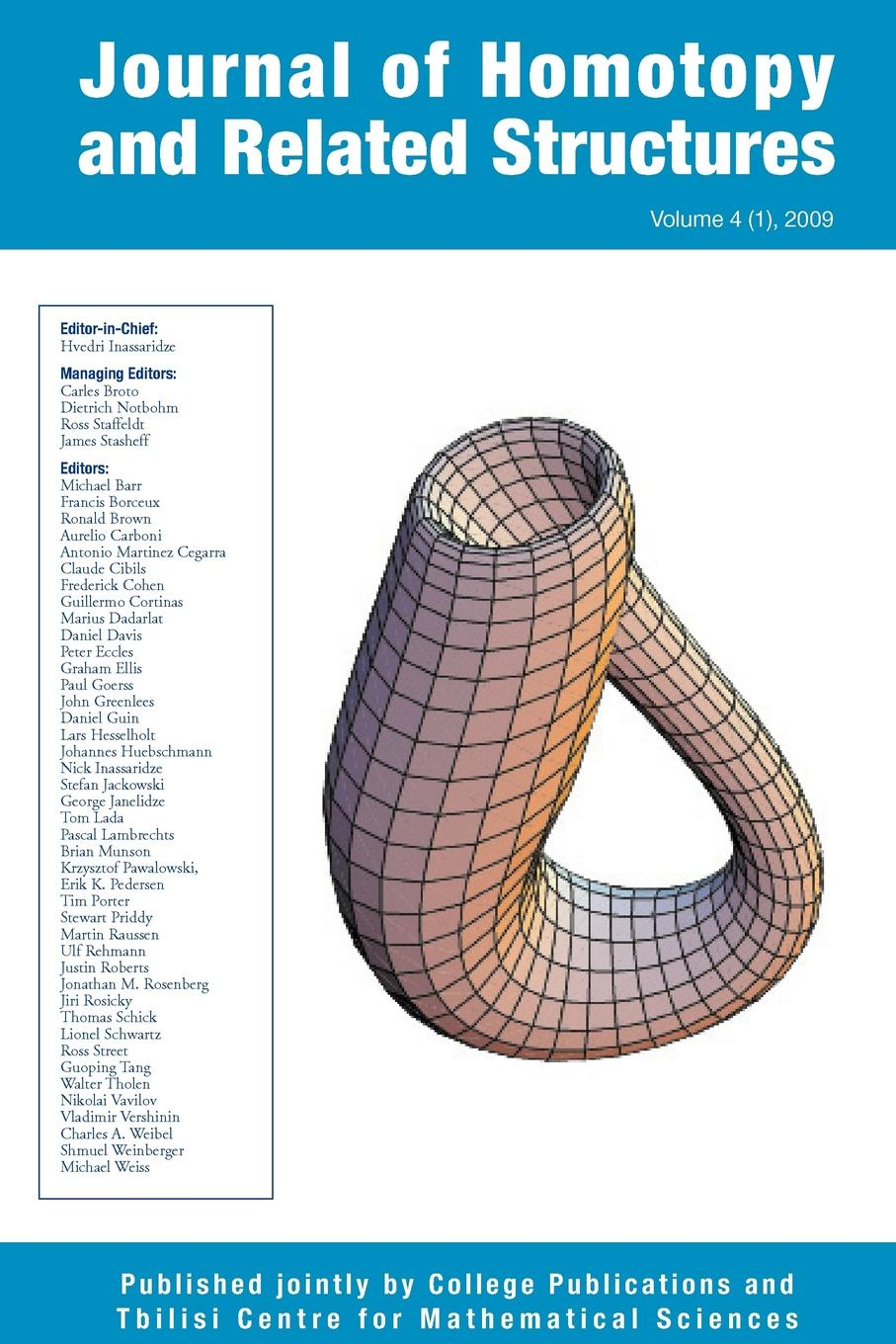 Journal of Homotopy and Related Structures 4(1) цены