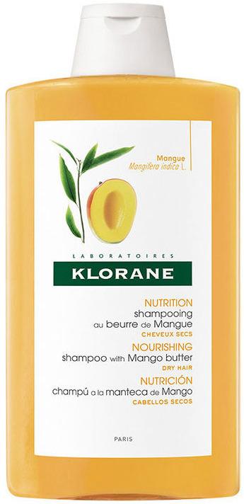 Шампунь с маслом манго Klorane, увлажняющий и питательный, 400 мл шампунь klorane с маслом манго для сухих и поврежденных волос 200 мл