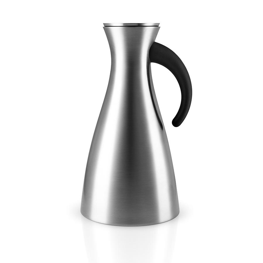 Термокувшин Eva Solo Vacuum Jug 1L Stainless Steel, серый металлик термокувшин eva solo vacuum jug 1l dark burgundy бордовый