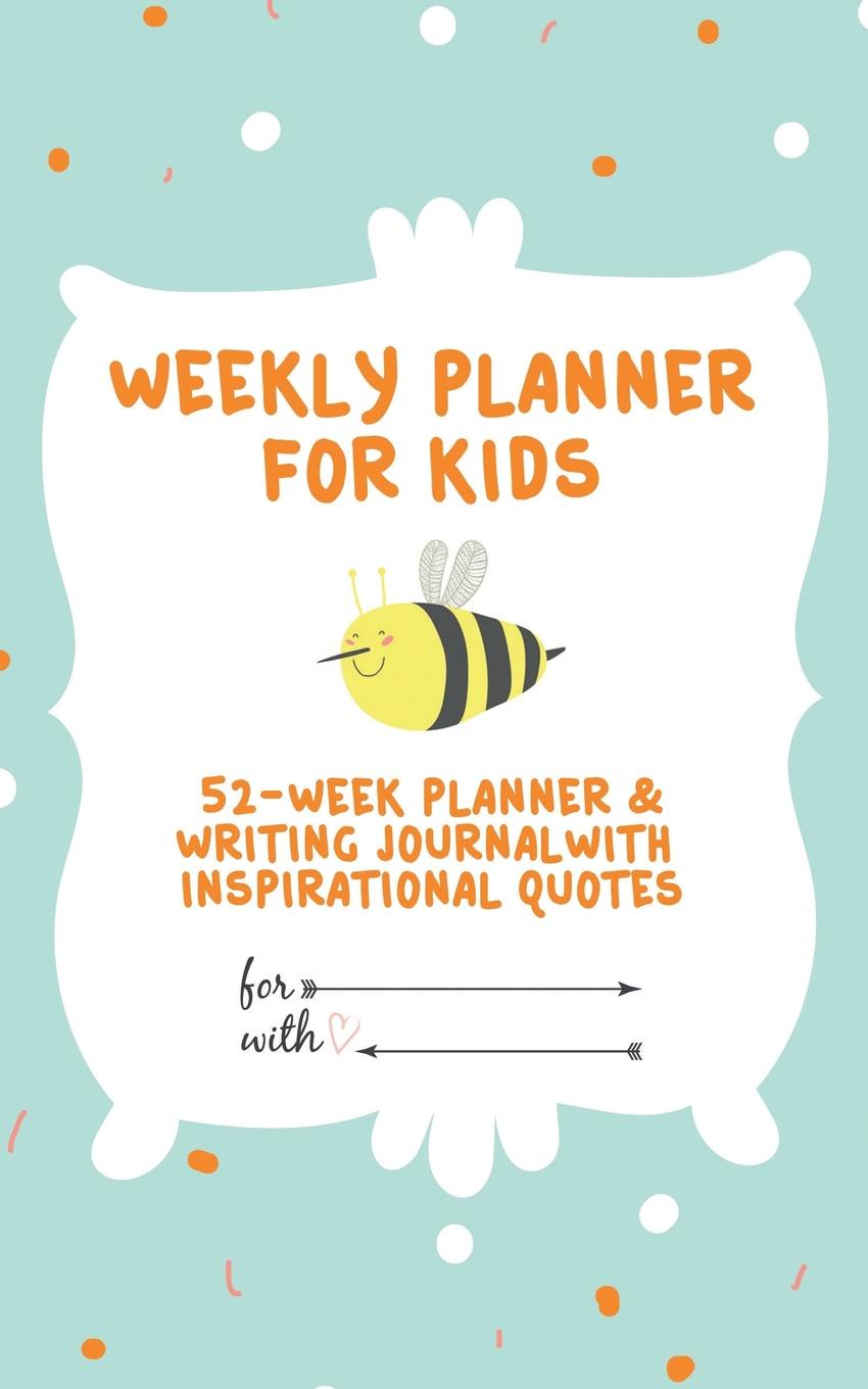 Journal Jungle Publishing Weekly Planner for Kids. 52-Week Planner . Writing Journal With Inspirational Quotes ( 5x8 Inches / Green) portable cute weekly planner sweet notebook fresh student schedule journal diary writing book school supplies