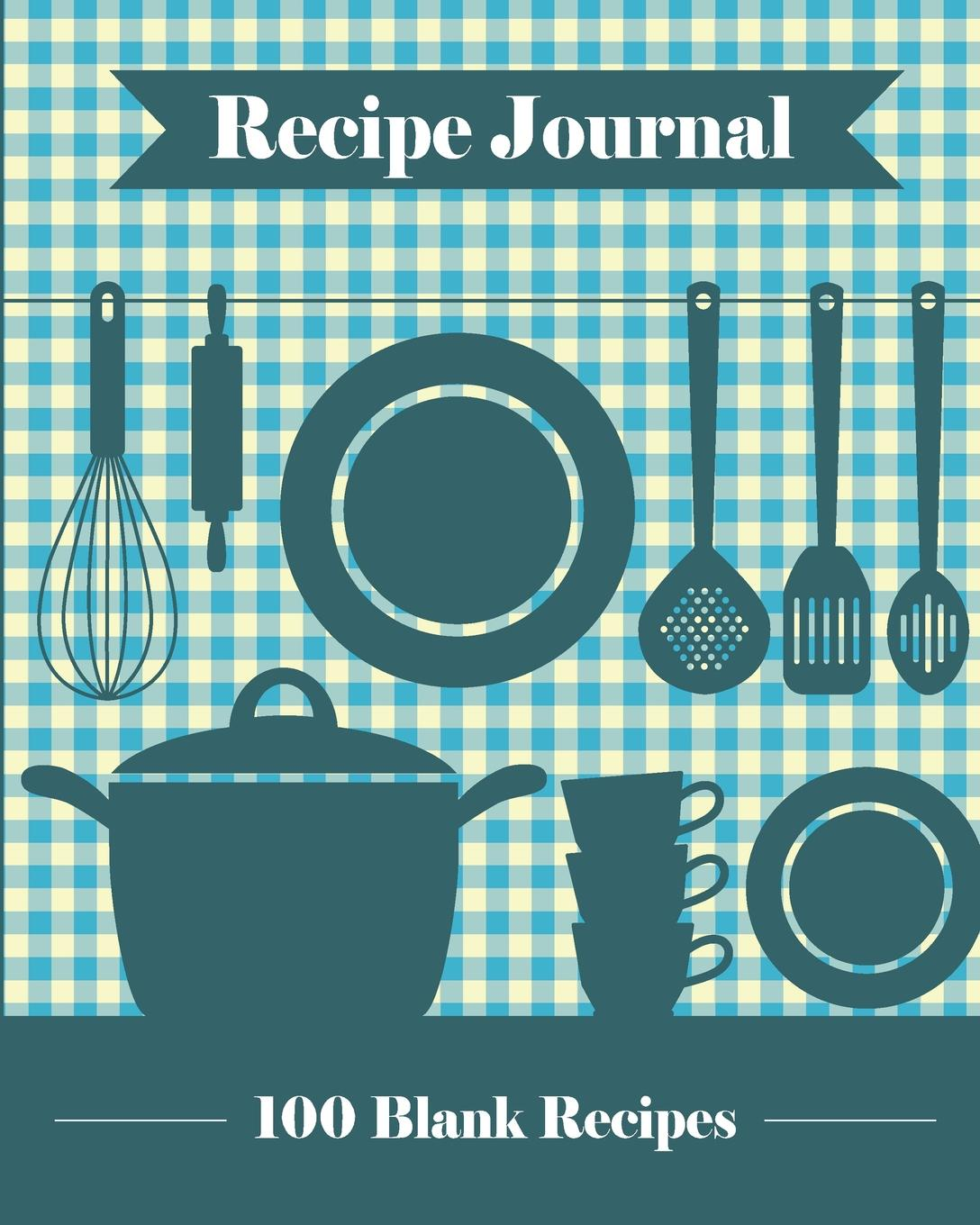 Journal Jungle Publishing Recipe Journal. 100 Blank Recipe Templates You Can Use to Create Your Own Custom Cookbook .8 x 10 Inches / Blue. 16k blank vintage notebook cowhide paper thick sketch book sketchbook daily journal diario vintage can be opened 180 degree