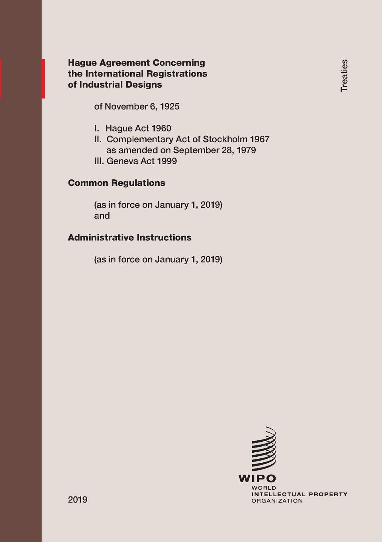 Hague Agreement Concerning the International Registration of Industrial Designs registration