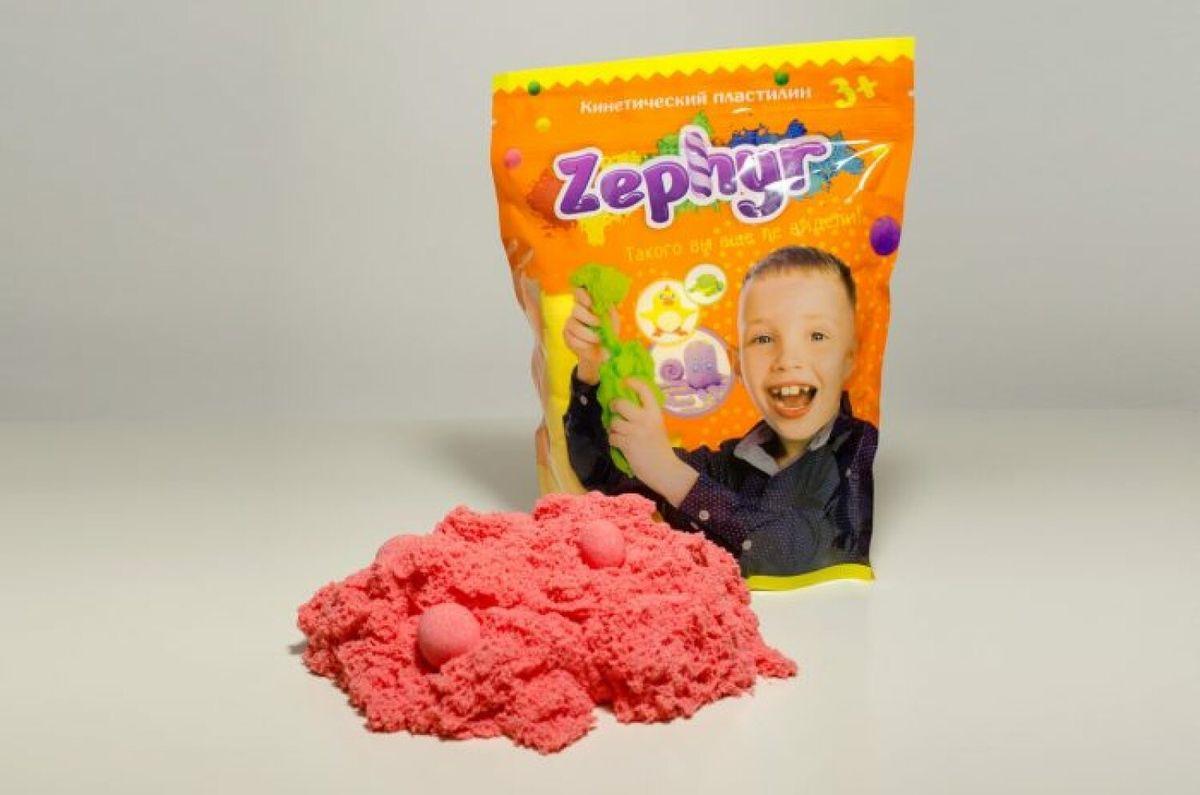 Кинетический пластилин 1TOY Zephyr, 00-00000810, розовый, 300 г 1toy труба цвет розовый