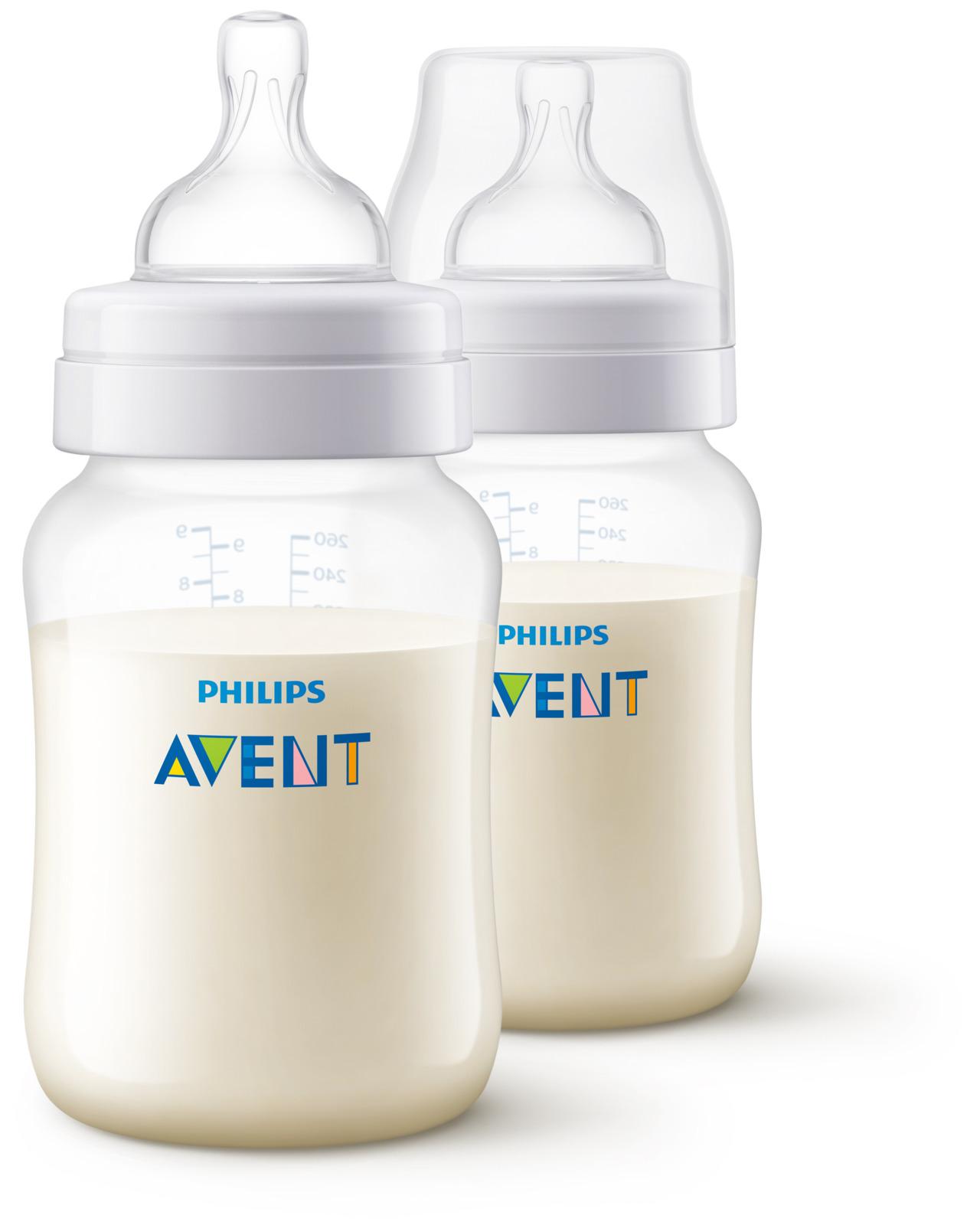 Бутылочка для кормления Philips Avent Anti-colic, от 1 месяца, SCF813/27, 260 мл, 2 шт телевизор philips 32pht4132 60