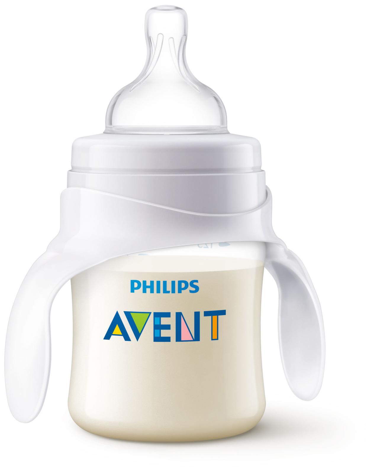 Бутылочка для кормления Philips Avent, от 4 месяцев, SCF638/01, 120 мл бутылочка для кормления philips avent с мягким носиком и ручками от 4 месяцев цвет белый