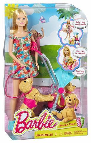 Кукла Mattel Барби прогулка со щенками Barbie barbie кукла starlight adventure барби с ховербордом dlt23