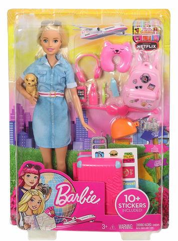 mattel barbie dtw00 барби кукла повтори цвета из серии barbie и виртуальный мир Кукла Mattel Barbie из серии Путешествие
