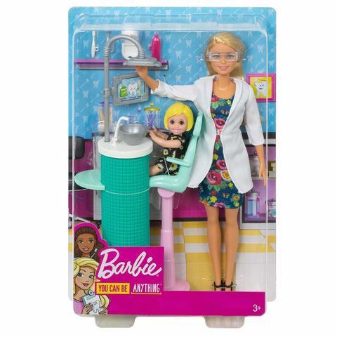 Игровой набор Mattel Набор игровой Barbie Кем быть Дантист цена