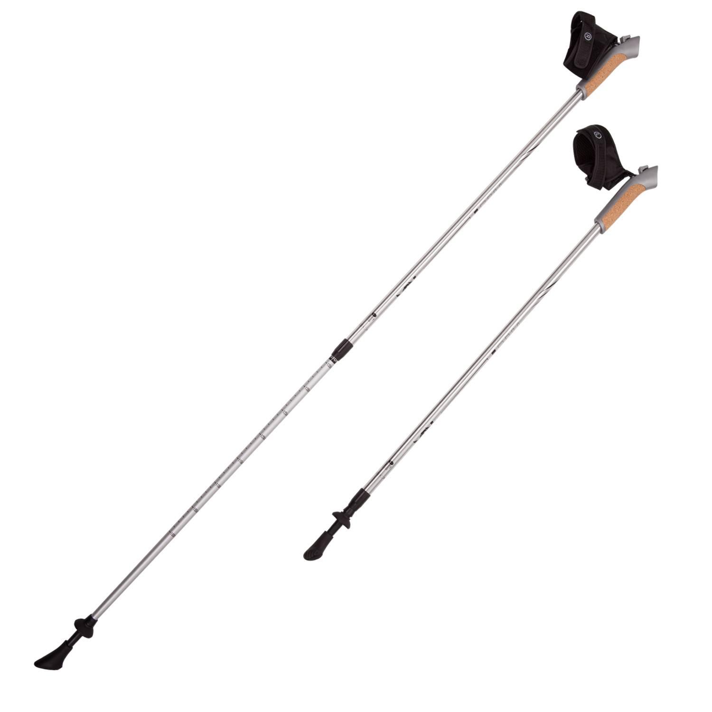Палки для скандинавской ходьбы RGX NWS-02A, белый палки для скандинавской ходьбы komperdell carbon forza длина 120 см 2 шт