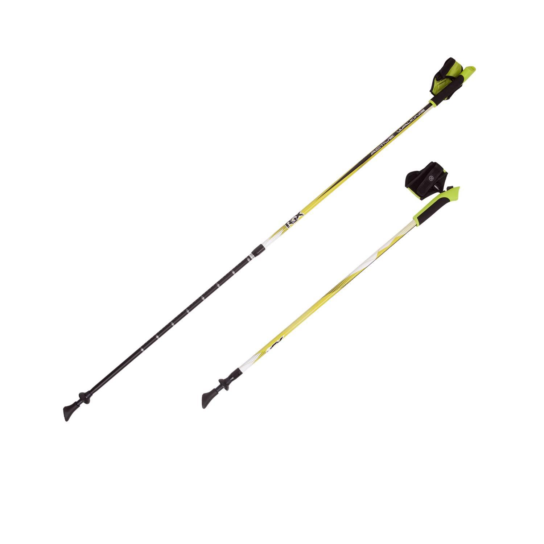 Палки для скандинавской ходьбы RGX NWS-18, желтый палки для скандинавской ходьбы komperdell carbon forza длина 120 см 2 шт