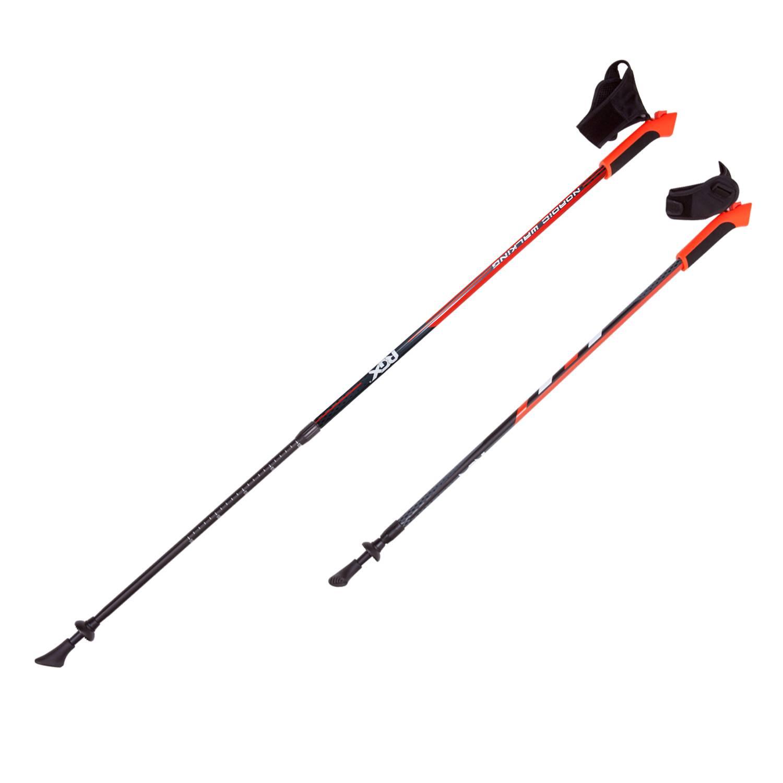 Палки для скандинавской ходьбы RGX NWS-15, красный палки для скандинавской ходьбы komperdell carbon forza длина 120 см 2 шт