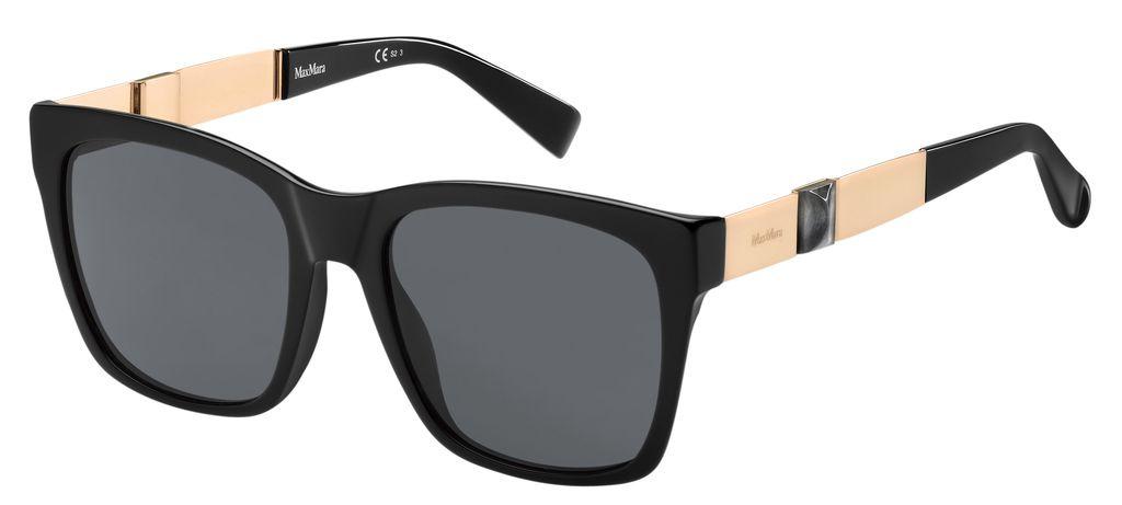 Очки солнцезащитные женские Max Mara, MAX-223874YA254IR, черный цены онлайн